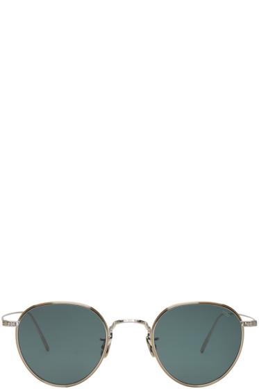 Eyevan 7285 - Silver & Green 'Model 539' Sunglasses