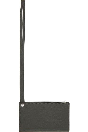 Valextra - Grey & Off-White Bag Card Holder