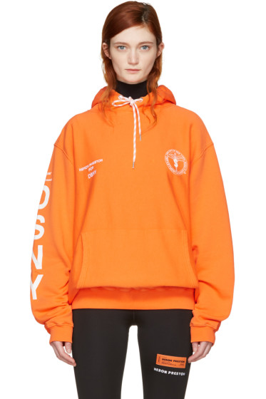 Heron Preston - Orange DSNY Edition 'Uniform' Hoodie