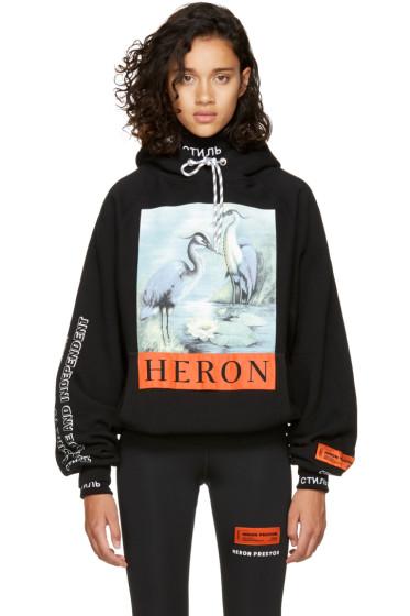 Heron Preston - ブラック ヘロン フーディ