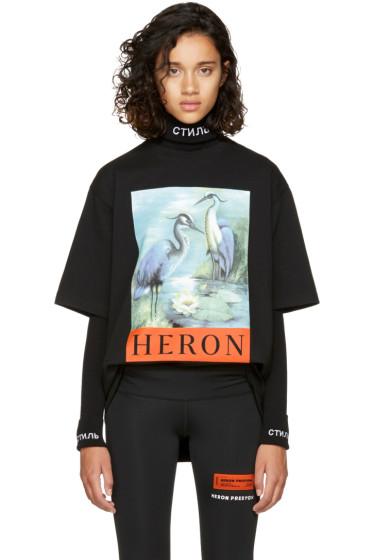 Heron Preston - ブラック ヘロン T シャツ
