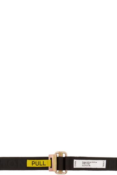 Heron Preston - Black Jacquard Logo Belt