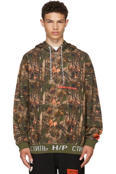 Heron Preston - Khaki Camouflage Forest Hoodie