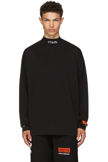 Heron Preston - Black Long Sleeve 'For You' T-Shirt