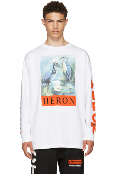 Heron Preston - White Long Sleeve Heron T-Shirt