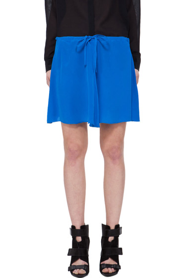 Co - Blue Silk Drawstring Skirt