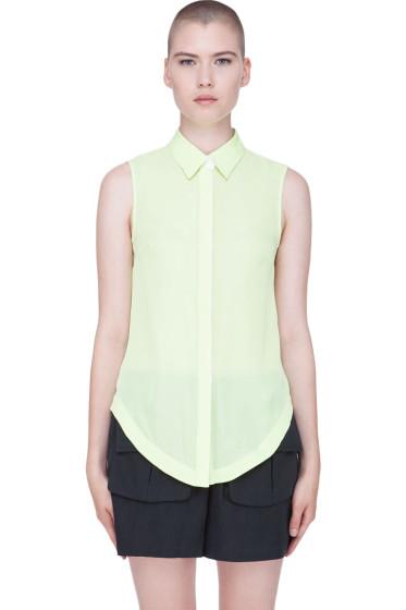 Wayne - Pale Green Silk Blouse