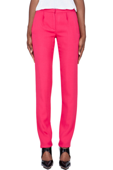 Thakoon - Slim Pink Tucked Trousers