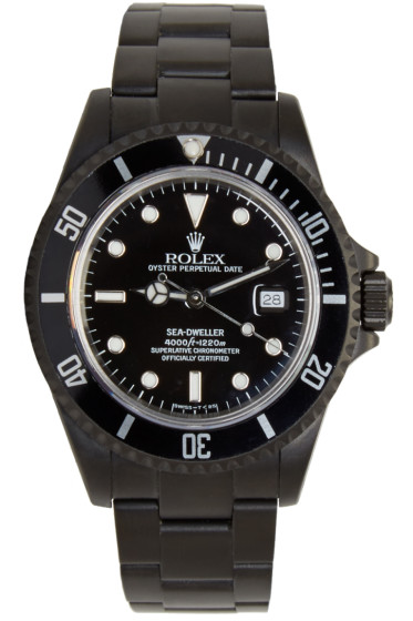 Black Limited Edition - Matte Black Limited Edition Rolex Sea Dweller Watch