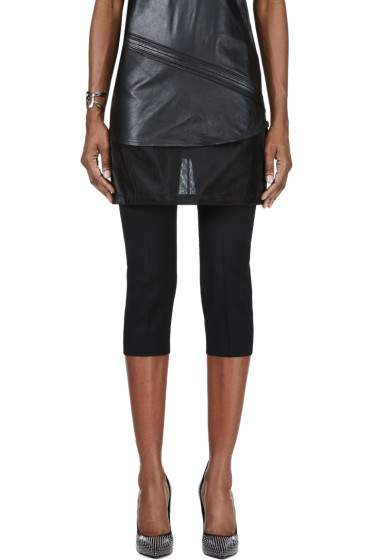 Maison Margiela - Black Mesh Skirt Layered Trousers
