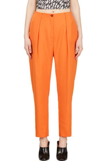 Mugler - Orange Low Waist Oversize Trousers