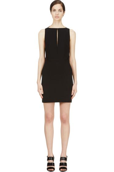 Mugler - Black Open Back Dress
