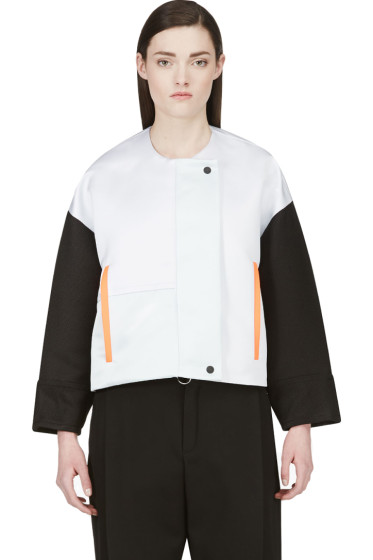 Roksanda - Oyster Grey & Black Bayliss Jacket