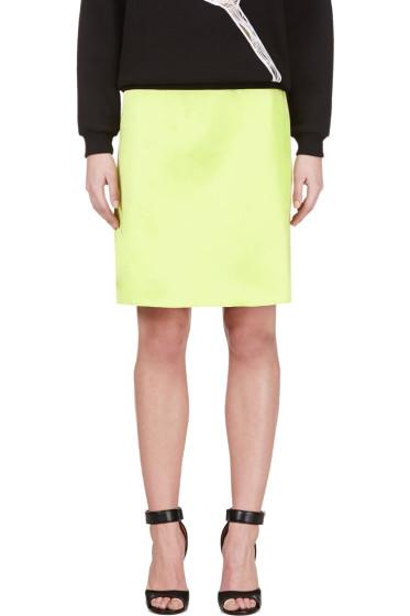 Jonathan Saunders - Acid Green A-Line Skirt