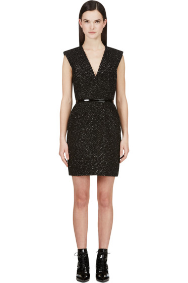 Saint Laurent - Black Encrusted Sleeveless Dress