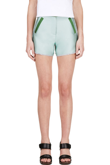 Ostwald Helgason - Mint & Forest Green/Grey Shorts