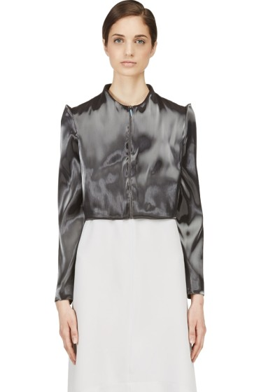 Iris van Herpen - Grey Cropped Liquid Jacket