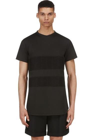 En Noir - Black Ribbed Band T-Shirt