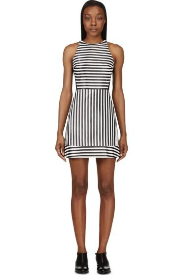 Richard Nicoll - Black Lurex Stripe Mini Dress