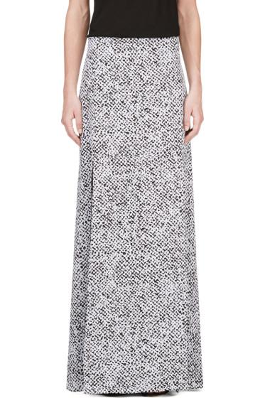 Richard Nicoll - Black & White Crepe De Chine Maxi Skirt