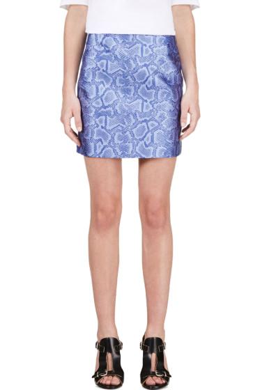 Richard Nicoll - Blue Python Jacquard Mini Skirt