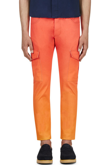 Katie Eary - Orange Sunset Twill Cargo Trousers