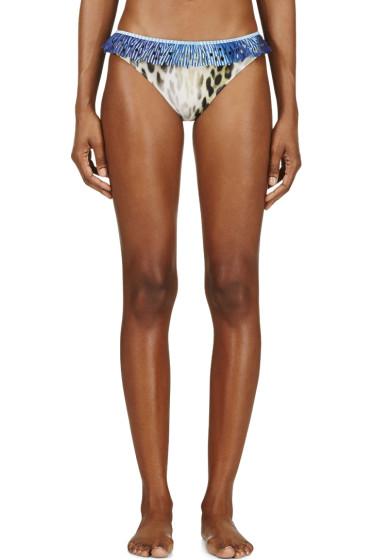 Roseanna - Yellow Leopard Ruffled Trim Bikini Bottom
