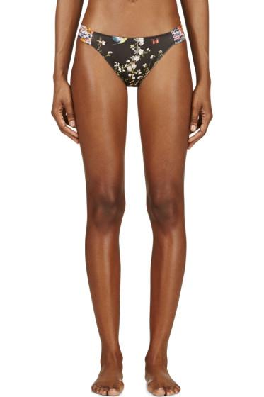 Roseanna - Black Floral Print Duo Bikini Bottom