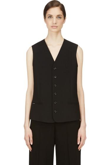 Nicolas Andreas Taralis - Black Wool Vest
