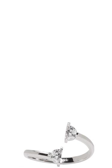 Maison Margiela Fine Jewellery - White Gold Split Solitaire Ring