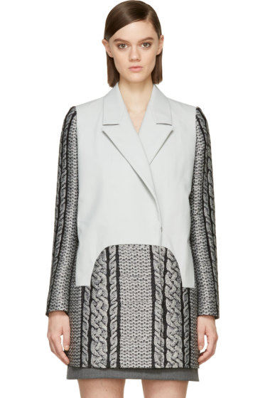 Viktor & Rolf - Grey Cable Knit Coat