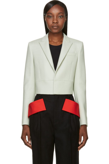 Givenchy - Green Cropped Blazer