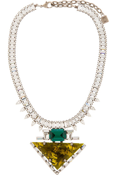 Dannijo - Chartreuse Resin & Crystal Elodie Necklace