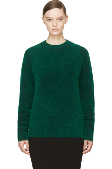 Juun.J - Green Wool & Mohair Sweater