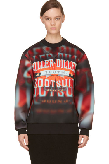 Juun.J - Red 'Killer Diller' Neoprene Pullover