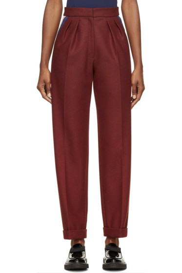 Roksanda - Burgundy Wool Marre Trousers