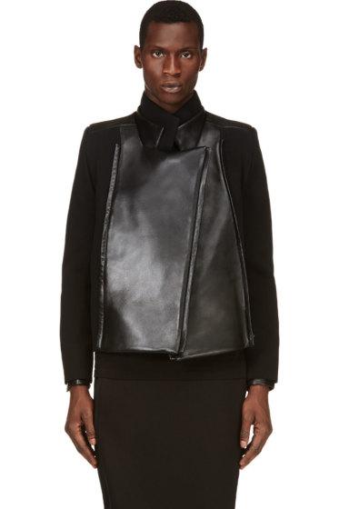 Rad by Rad Hourani - Black Leather Panel Jacket