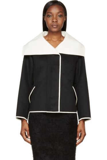 Nina Ricci - Black Oversized Collar Jacket