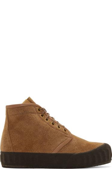Visvim - Brown Suede Ludlam Hi-Folk Boots