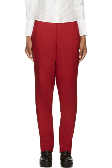 Costume National - Red Wool Trousers