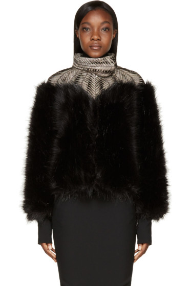 Iris van Herpen - Black Fur Biopiracy Coat