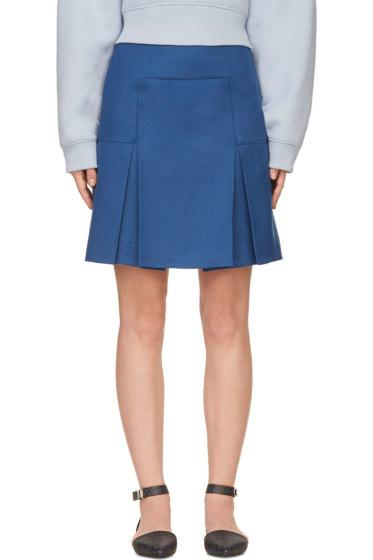 Richard Nicoll - Blue Box Pleat Mini Skirt