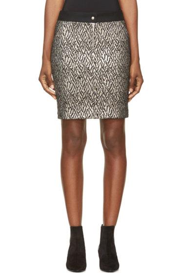 Roseanna - Black & Silver Brocade Skirt
