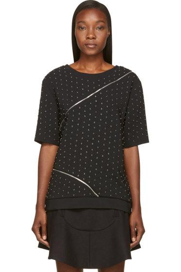 Jay Ahr - Black Studded & Zipped Phenice Top