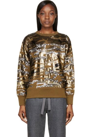 Isabel Marant - Olive & Gold Camo Sequined Hamilton Sweatshirt