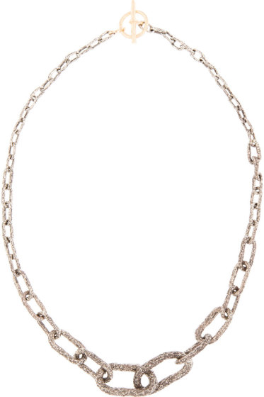 Pearls Before Swine - Silver & Gold Toggle Graded Necklace