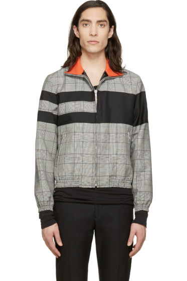 Krisvanassche - Black Check & Stripe Wool Jacket