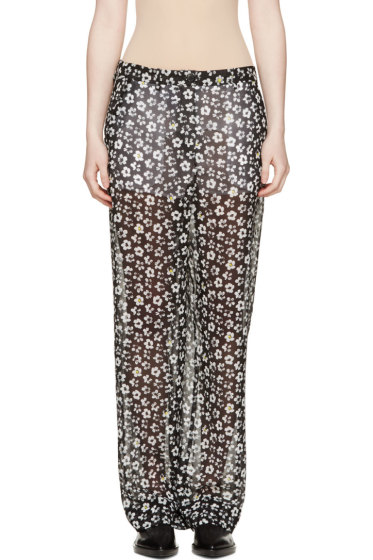 Maison Margiela - Black Silk Georgette Daisy Trousers