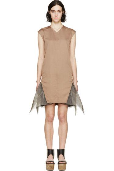 Rick Owens - Burnt Sienna Shell Dress