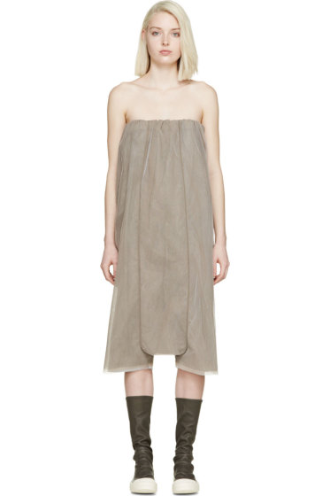 Rick Owens - Brown Tulle Bodybag Jumpsuit